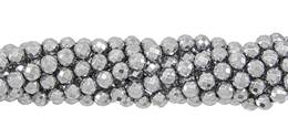 Silver Hematine Bead Ball Faceted Shape