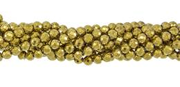 Gold Hematine Bead Ball Faceted Shape