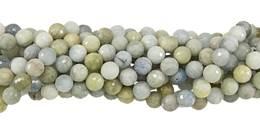 Multi-Aquamarine Bead Ball Shape Faceted Gemstone