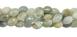 Multi-Aquamarine Bead Rice Shape Faceted Gemstone