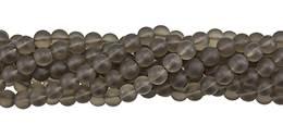 Smoky Quartz Bead Ball Shape Frosted Gemstone GR-A