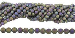 Peacock Druzy Agate Bead Ball Shape