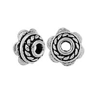 Oxidized Sterling Silver 6.0mm Bead Cap