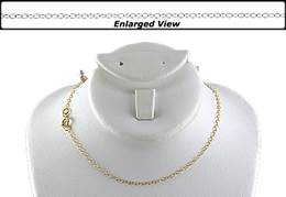 14K Ready to Wear 1.3 mm Round Cable Chain With Springring Clasp