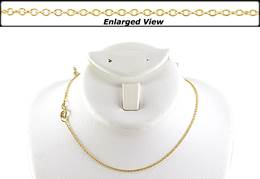18K Ready to Wear 1.2mm  Round Cable Chain With Springring Clasp