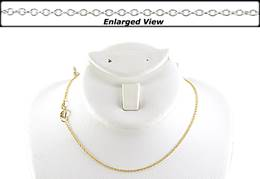 14K Ready to Wear 1.2mm Cable Chain Necklace With Springring Clasp