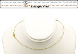 14K Ready to Wear 1.3mm Flat Cable Chain Necklace With Springring Clasp