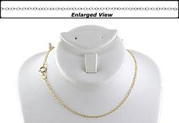 14K Ready to Wear 1.4mm Cable Chain Necklace With Springring Clasp