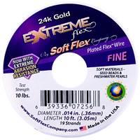 Soft Flex Beading Wire 0.014 Gold