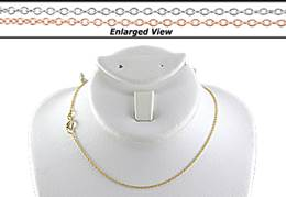 14K Ready to Wear 1.1mm  Round Cable Chain Necklace With Springring Clasp