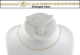 14K Ready to Wear 1.8mm Round Cable Chain With Springring Clasp