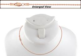 14K Ready to Wear 1.5mm Bead Chain Necklace With Lobster Clasp
