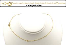 14K Ready to Wear 1.2mm  Flat Round Cable Chain With Springring Clasp