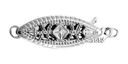 Sterling Silver Filigree FishClasp