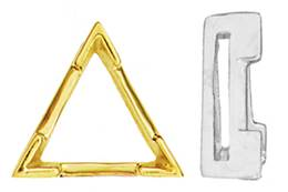 14K TRIANGLE V-PRONGS AIRLINE SETTING 5608-14K