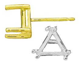 6 PRONG TRIANGLE EARRING