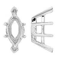 14K DOUBLE GALLERY MARQUISE SETTING 6702-14K
