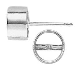 Round Tube Bezel With Bearing Earring