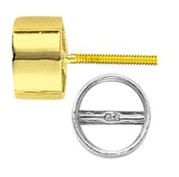 TUBE BEZEL EARRING WITH BEARING WITH SCREW POST