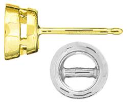 ROUND BEZEL EARRING WITH BEARING
