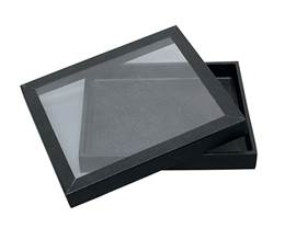 Acrylic Top Black Wood Tray