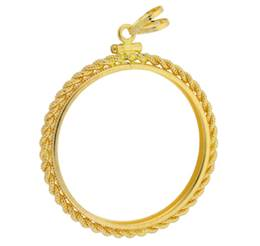 American Gold Eagle Coin 1 oz Rope Bezel