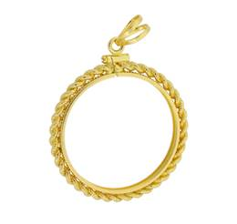 $10 Liberty Head Gold Coin Rope Bezel