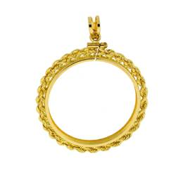 China Panda Gold Coin 1/2 oz Rope Bezel