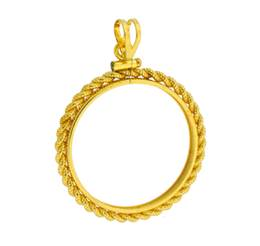 Gold Filled Sacagewea Dollar Coin Rope Bezel