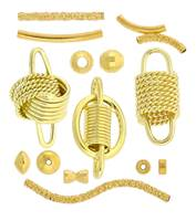 Vermeil Beads, Bead Caps And Tube Spacers