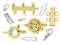 14k Gold Clasps And Clasp Parts