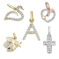 14K Diamond Charms