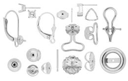 Sterling Silver Earrings And Earring Components