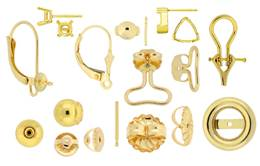 18K Earrings And Earring Findings