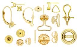 18K Earrings And Earring Findings