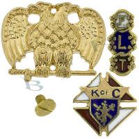 14k Medic Alert, 14K Masonic Signs And 14K Emblems