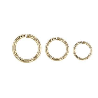 10k Gold Open Jumpring 0.90mm Wire (19 Gauge Wire)