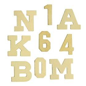 14K Gold Initial Thick Block Font Height 6.38mm