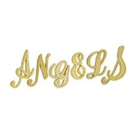 14K Gold Initial Script Font Height 4.60mm