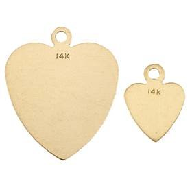 Gold Filled Heart Flat Sheet Charm