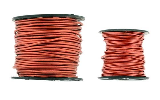Leather Cord Metal Copper