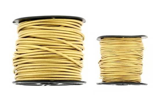Leather Cord Metal Gold