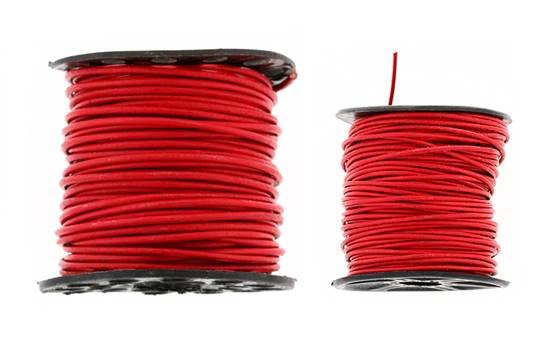 Leather Cord Red