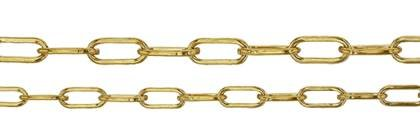 Elongated Cable Gold Filled Chain