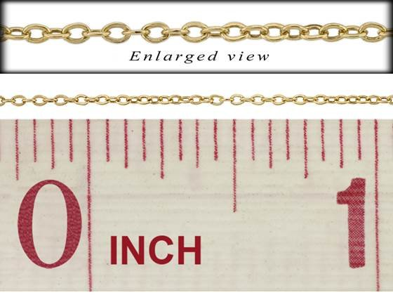 gf 1.2mm chain width flat round cable chain