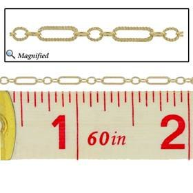 gold filled hammer long and short cable chain