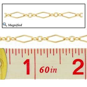 gold filled flat fancy long and short chain