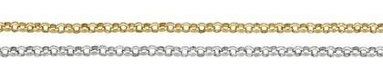 14K Gold Chain 1.40mm Width Belcher Rolo Chains