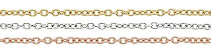 14K Gold Chain 1.80mm Width Round Cable Chains