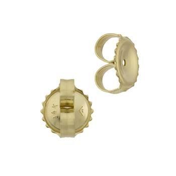 14ky 7x0.76mm hole earring friction earnut
